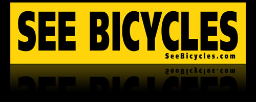 See Bicycles bumpersticker