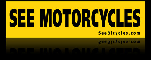See Motorcycles bumpersticker